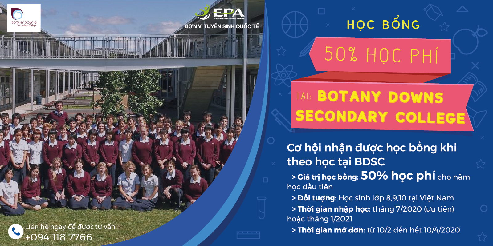 HỌC BỔNG DU HỌC TRUNG HỌC TẠI TRƯỜNG BOTANY DOWNS SECONDARY COLLEGE – AUCKLAND NEW ZEALAND